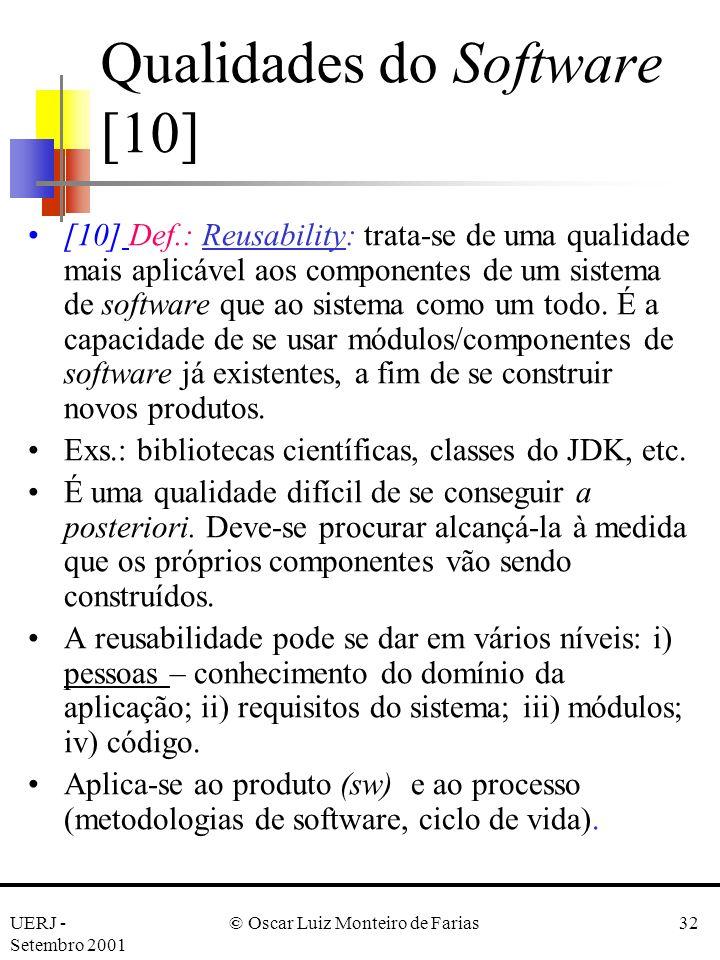 Qualidades do Software [10]